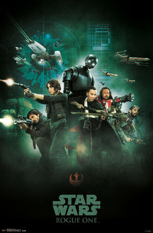 "Star Wars Rogue One ""Group"" Official Poster - Trends 2016"