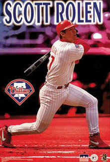"Scott Rolen ""Action"" Philadelphia Phillies Poster- Starline 1999"