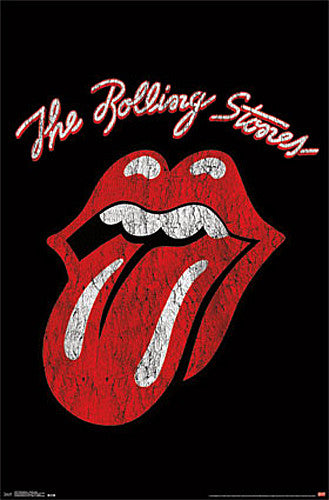 "The Rolling Stones ""Tonge and Lips"" Official Band Logo Poster - Trends International"