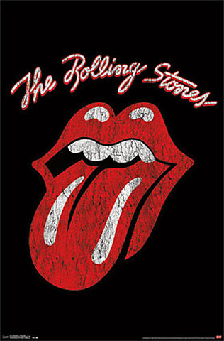 The Rolling Stones Tonge And Lips Official Band Logo Poster