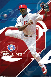 "Jimmy Rollins ""Acrobat"" Philadelphia Phillies Poster - Costacos 2010"
