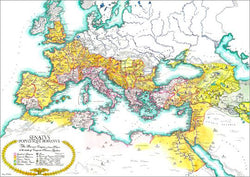 Map of the Roman Empire circa 180 CE Premium Wall Poster - Useful Charts