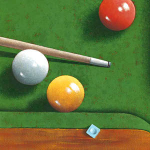 The Snooker Table by Bill Romero - Wizard & Genius 2006