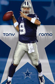 "Tony Romo ""Lone Star"" Dallas Cowboys Poster - Costacos 2008"
