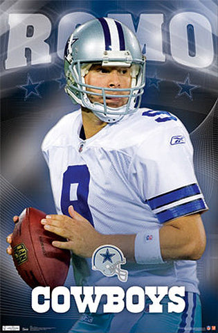 "Tony Romo ""Shining Star"" Dallas Cowboys Poster - Costacos 2011"