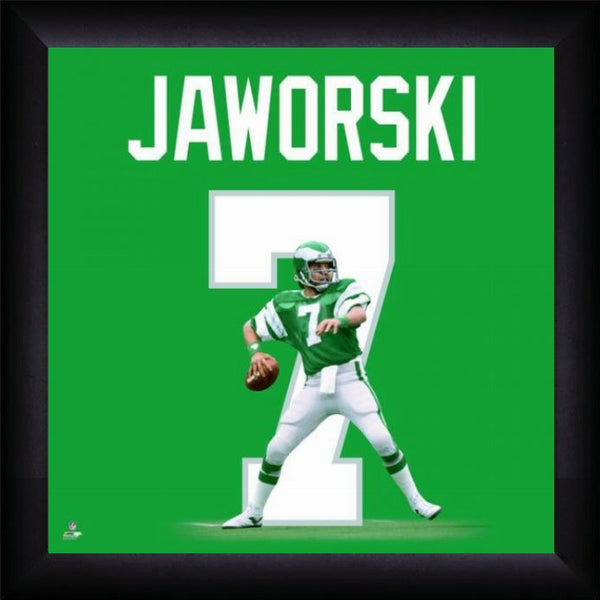 "Ron Jaworski ""Number 7"" Philadelphia Eagles NFL FRAMED 20x20 UNIFRAME PRINT - Photofile"
