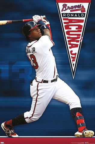 "Ronald Acuna ""Slugger"" Atlanta Braves MLB Baseball Poster - Trends International 2020"