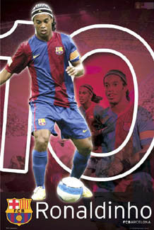 "Ronaldinho ""Action 10"" FC Barcelona Poster - GB Posters 2007"