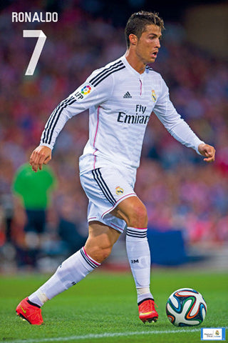 "Cristiano Ronaldo ""Intensity"" Real Madrid CF Official La Liga Soccer Poster - G.E. (Spain)"