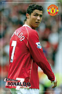 "Cristiano Ronaldo ""Number 7"" Manchester United FC Poster - GB Posters 2007"