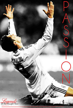 "Cristiano Ronaldo ""Passion"" Real Madrid Legends Series Soccer Superstar Poster - Starz (#47)"