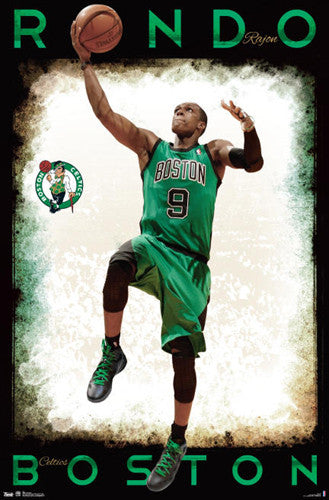 "Rajon Rondo ""Drive"" Boston Celtics NBA Poster - Costacos 2012-13"