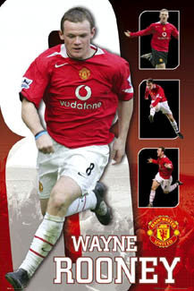 "Wayne Rooney ""Quad-Action"" - GB Posters 2005"