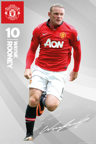 "Wayne Rooney ""Signature"" Manchester United FC Official Action Poster - GB Eye (UK)"