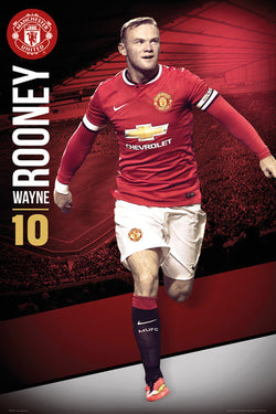 "Wayne Rooney ""Superstar"" Manchester United FC Soccer Action Poster - GB Eye 2014"