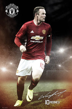 Wayne Rooney Manchester United FC Signature Series Official EPL Poster - GB Eye 2016/17