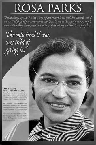 "Rosa Parks ""American Hero"" Historical Poster - Eurographics Inc."