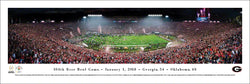 Georgia Bulldogs 2018 Rose Bowl Champions Panoramic Poster Print - Blakeway Worldwide