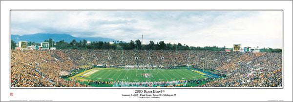Rose Bowl Game 2005 Panoramic Poster Print (Texas 38 Michigan 37) - Everlasting Images