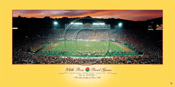 USC Trojans 94th Rose Bowl Game Champions (2008) Poster Print - Rick Anderson