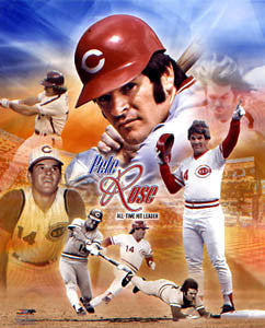 "Pete Rose ""Legend"" Cincinnati Reds Career Commemorative Poster - Photofile Inc."