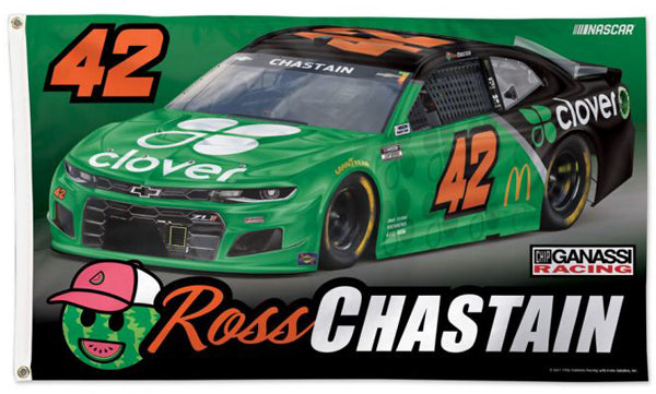 Ross Chastain NASCAR #42 Clover Chevrolet (2021) Official 3'x5' Deluxe Flag - Wincraft
