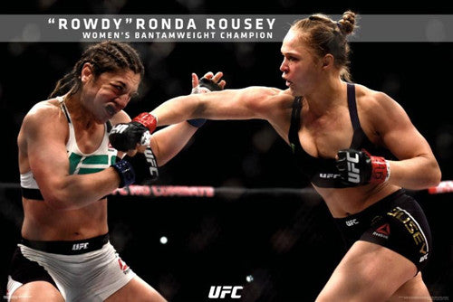 "Ronda Rousey ""UFC 190 Knockout Blow"" MMA Action Poster - Pyramid America 2015"
