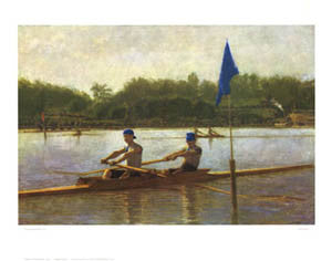 "Rowing ""Turning the Stake"" (c.1872) Poster - Shorewood Publications"