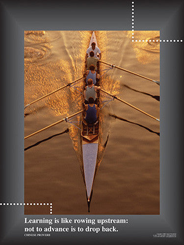 "Rowing ""The Power of Learning"" Motivational Inspirational Poster - Jaguar Inc."