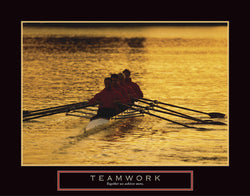 "Rowing ""Teamwork"" Motivational Poster - Front Line"