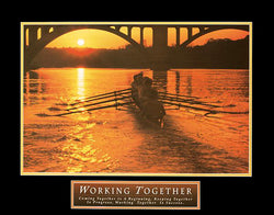 "Rowing ""Working Together"" Inspirational Motivational Poster - Front Line"