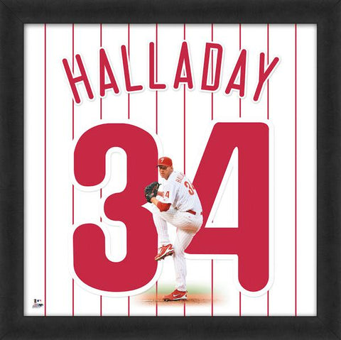 "Roy Halladay ""Number 34"" Philadelphia Phillies MLB FRAMED 20x20 UNIFRAME PRINT - Photofile"