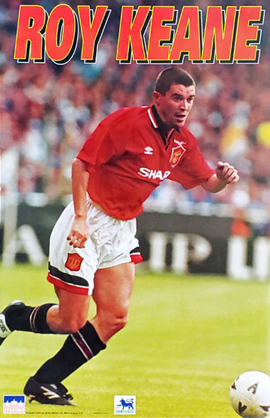 "Roy Keane ""Action"" Manchester United FC Official EPL Football Soccer Poster - Starline 1995"