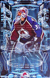 "Patrick Roy ""The New Ice Age"" Colorado Avalanche Poster - Starline 2001"