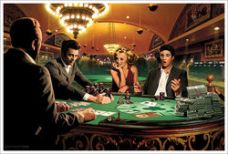 "Legends Poker Fantasy ""Royal Flush"" Poster Print by Chris Consani - Jadei Graphics"