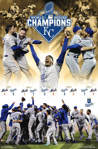 Kansas City Royals 2015 World Series CELEBRATION Poster - Trends International
