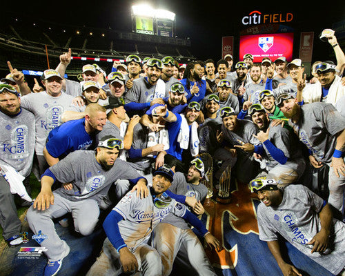 Kansas City Royals 2015 World Series Team Celebration Shot Premium 16x20 Poster Print