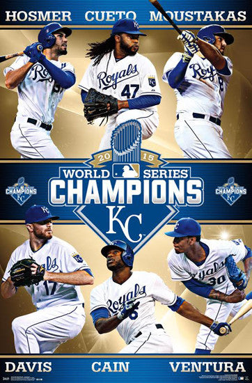 Kansas City Royals 2015 World Series CHAMPIONS 6-Player Commemorative Poster - Trends