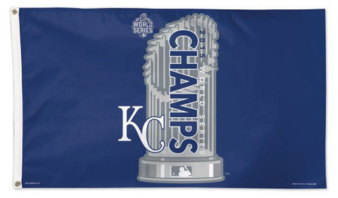 Kansas City Royals 2015 World Series Champions Deluxe 3'x5' FLAG - Wincraft