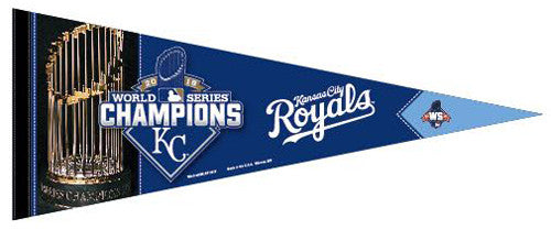 Kansas City Royals 2015 World Series Champions Premium Felt Collector's Pennant