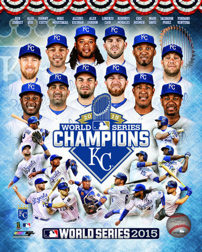Kansas City Royals 2015 World Series Champs 12-Player Premium Poster Print - Photofile