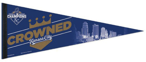 "Kansas City Royals ""Crowned"" 2015 World Series Champions Commemorative Premium Pennant - Wincraft"