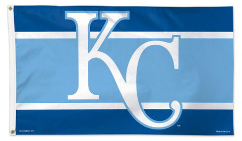 "Kansas City Royals ""KC Two-Tone"" Deluxe-Edition Premium 3'x5' MLB Flag - Wincraft Inc."