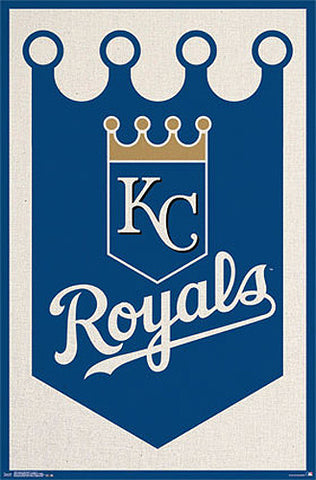 Kansas City Royals Official MLB Baseball Team Logo POSTER - Trends International