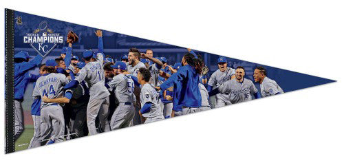 Kansas City Royals 2015 World Series CELEBRATION Premium 17x40 XL Felt Pennant - Wincraft