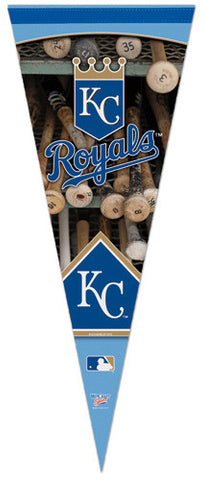 Kansas City Royals Official Dual-Logo Vertical Premium Felt Collector's Pennant - Wincraft Inc.