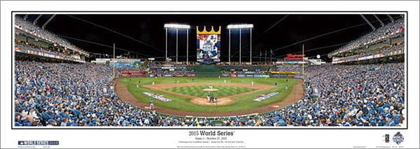 Kansas City Royals 2015 World Series Kauffman Stadium Game 1 Panoramic Poster Print (MO-391)