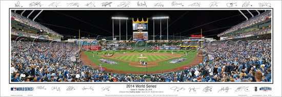 Kansas City Royals Kauffman Stadium 2014 World Series Game 6 Panoramic Poster Print (w/25 Sigs.)