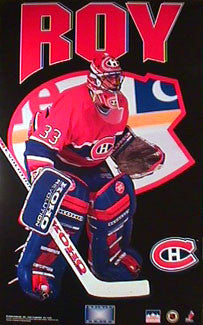 "Patrick Roy ""Infinity Series"" Montreal Canadiens Poster - Starline Inc. 1993"