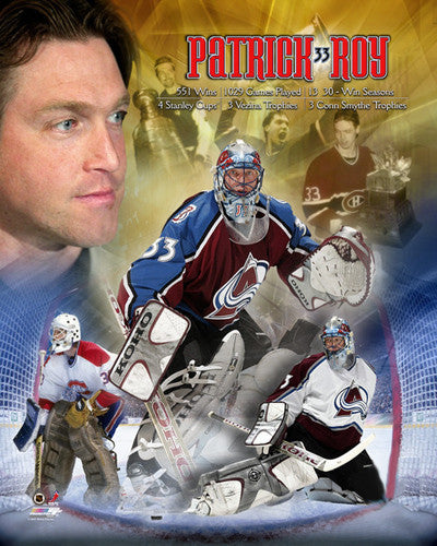 Patrick Roy LEGEND Career Commemorative Premium Poster Print - Photofile Inc.